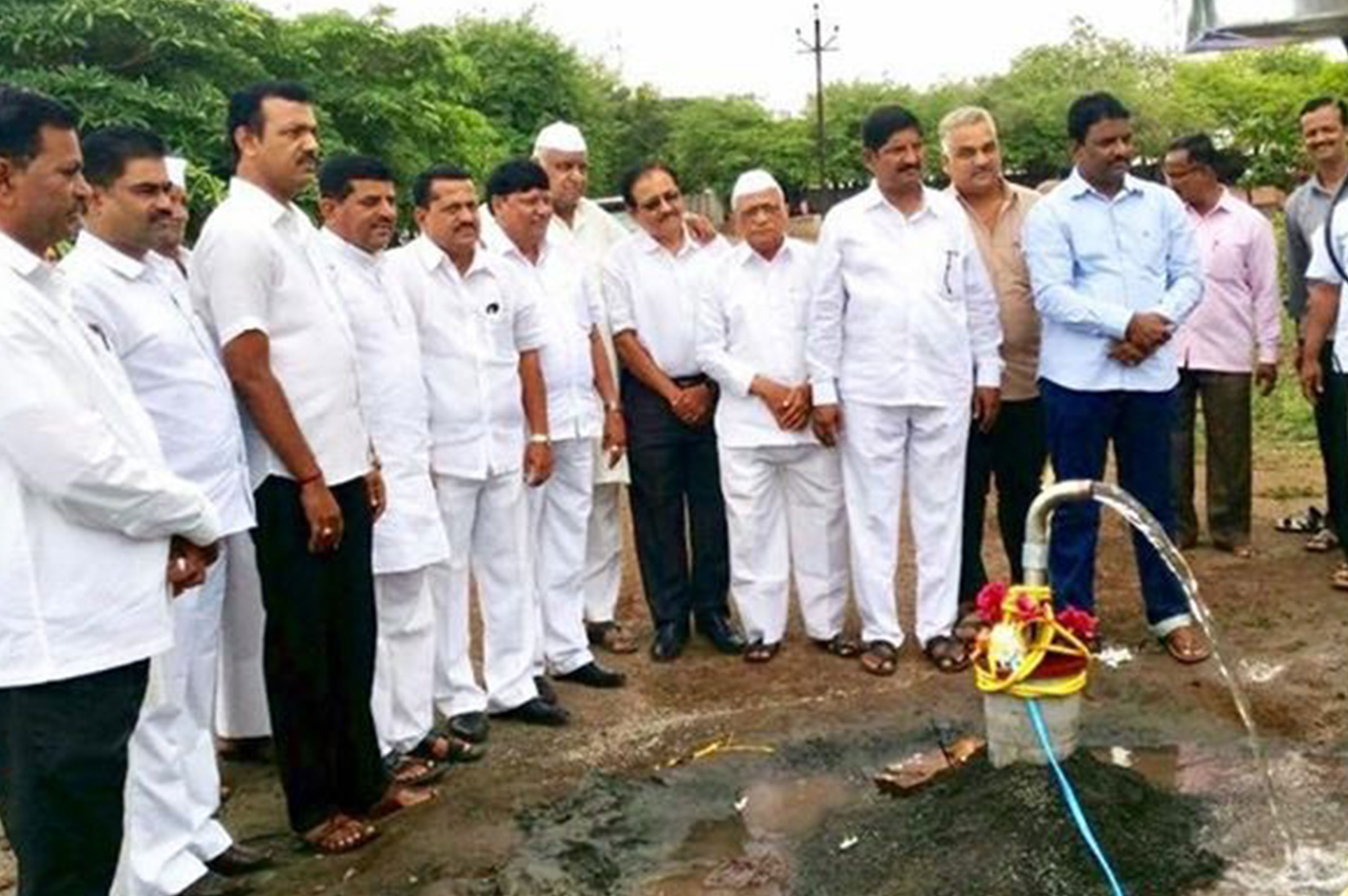 Bore-well equipment for the drinking water facility at New English School & Junior College, Wanewadi, Ta. Baramati
