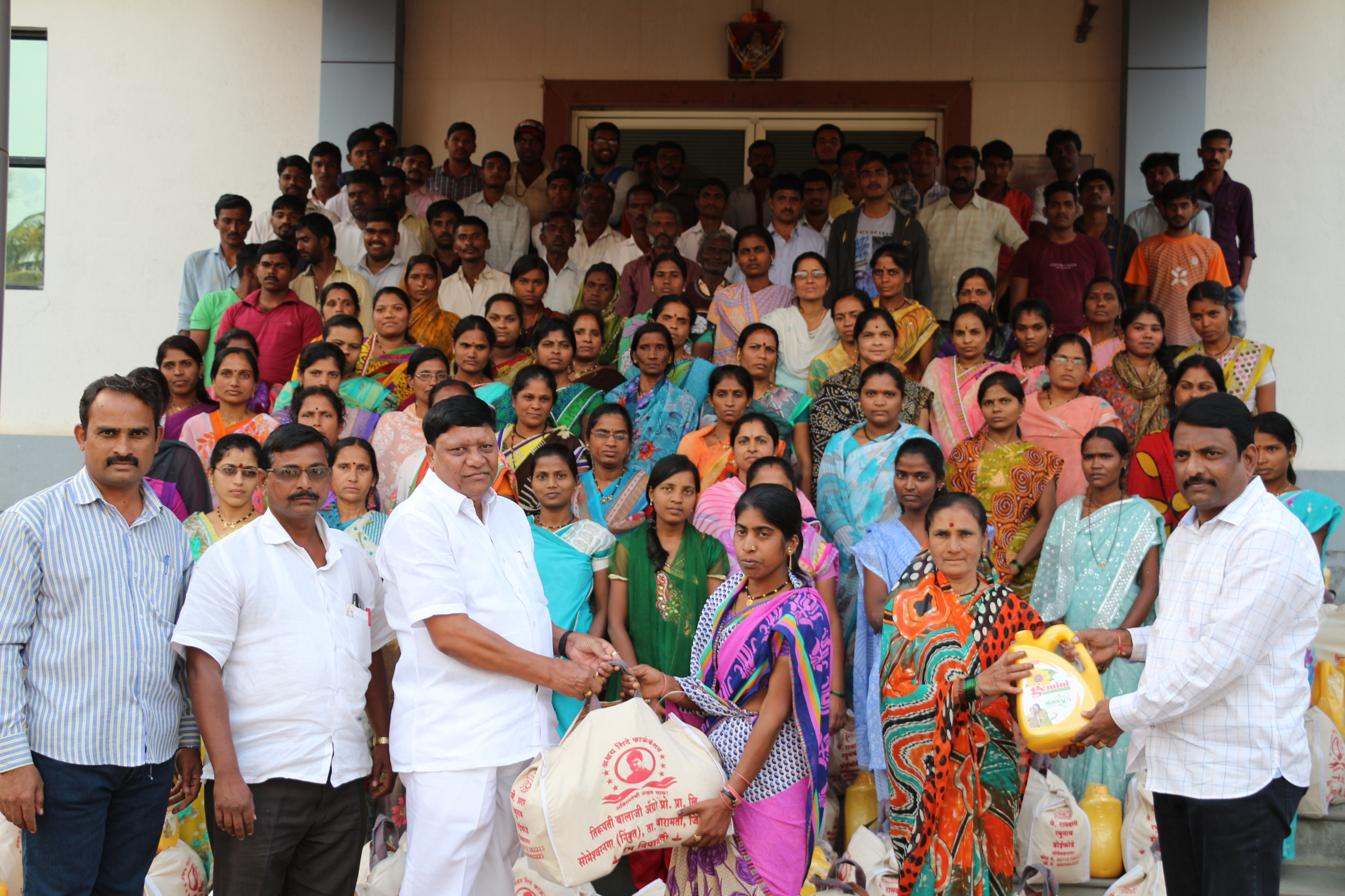Distribution of Diwali gifts to the poor people in the surrounding area 2015-2017